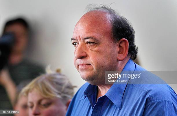 CEO of Pike River Coal Mine Peter Whittall talks to the media at a press conference on November 24 2010 in Greymouth New Zealand Families were...