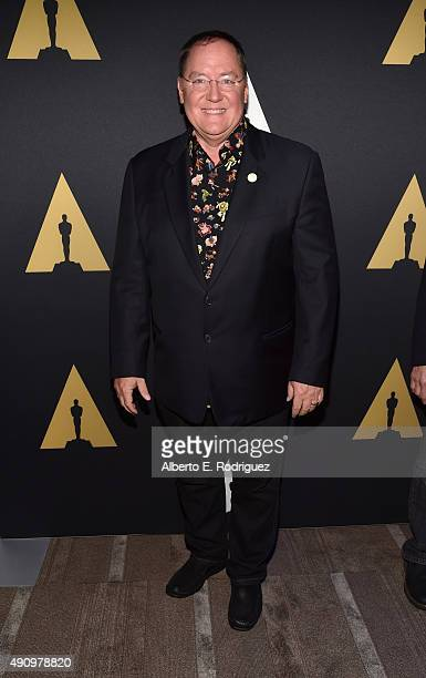 CEO of Pixar Animation Studios Disney Animation Studios Disney Toon Studios John Lasseter attends The Academy of Motion Picture Arts Sciences...