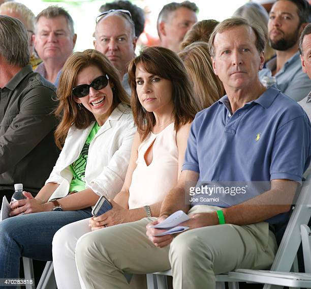 CEO of Points of Light Tracy Hoover Maria Bush and Chairman of the Board of Points of Light Neil Bush attend the Points of Light generationOn Block...