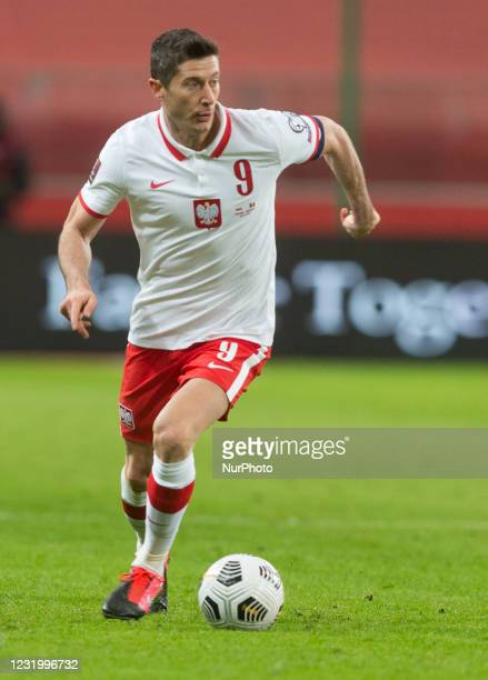 Of Poland during the FIFA World Cup 2022 Qatar qualifying match between Poland and Andorra on March 28, 2021 in Warsaw, Poland.