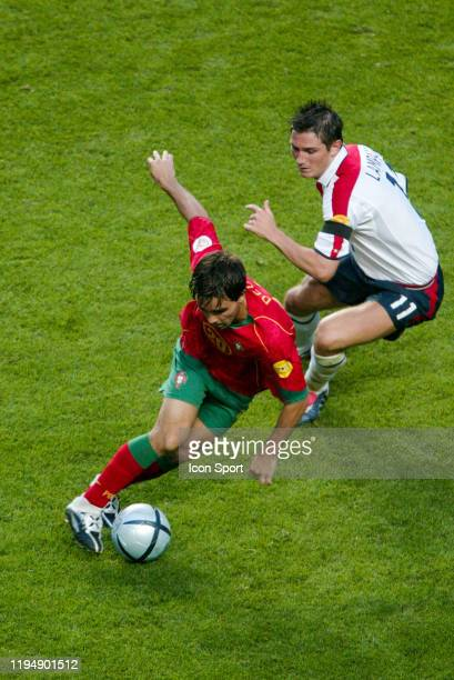 DECO of Portugal and Frank LAMPARD of England during the European Championship quarterfinals match between Portugal and England at Estadio da Luz...