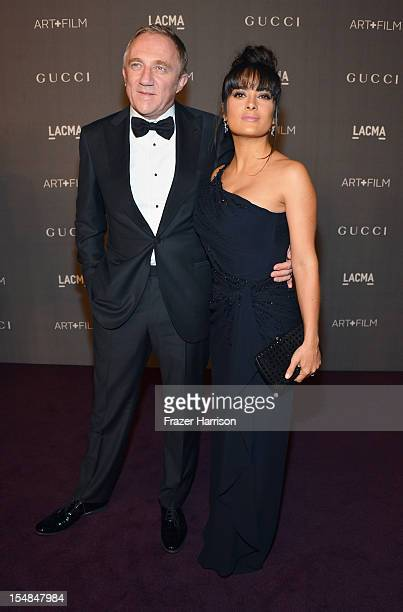 Of PPR Francois-Henri Pinault and actress Salma Hayek arrive at LACMA 2012 Art + Film Gala Honoring Ed Ruscha and Stanley Kubrick presented by Gucci...