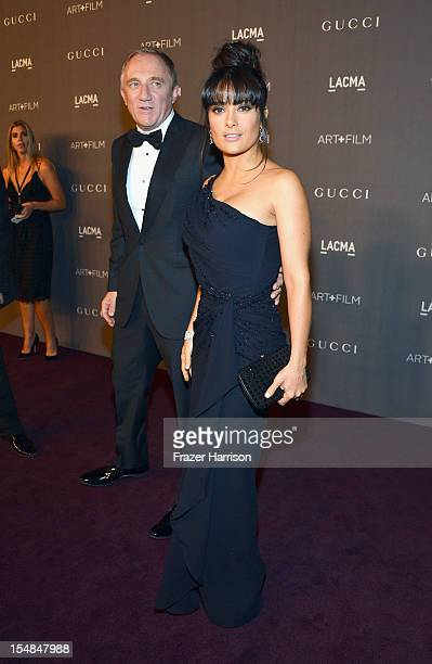 CEO of PPR FrancoisHenri Pinault and actress Salma Hayek arrive at LACMA 2012 Art Film Gala Honoring Ed Ruscha and Stanley Kubrick presented by Gucci...