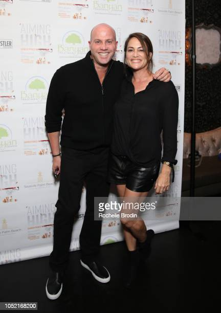 CEO of Prince Marketing Group L0 and Anna David attends the 'Aiming High' book release event for Darren Prince at Beauty Essex on October 14 2018 in...