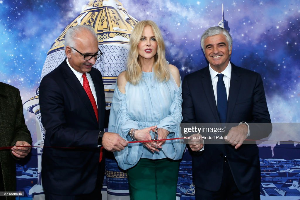 Le Printemps Christmas Decorations Inauguration In Paris : News Photo