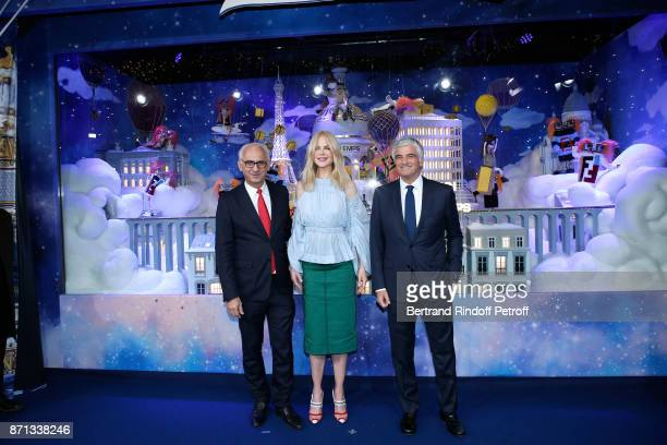 CEO of 'Printemps LSA' Paolo De Cesare actress Nicole Kidman and Deputy Chief Executive Officer of LVMH Antonio Belloni attend the 'Printemps'...