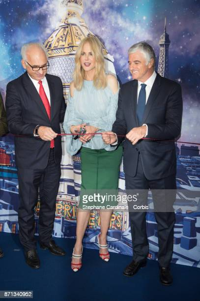 CEO of 'Printemps LSA' Paolo De Cesare actress Nicole Kidman and Deputy Chief Executive Officer of LVMH Antonio Belloni attend the Printemps...