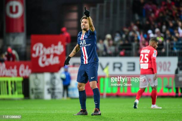 MARQUINHOS of PSG during the Ligue 1 match between Brest and Paris Saint Germain at Stade FrancisLe Ble on November 9 2019 in Brest France