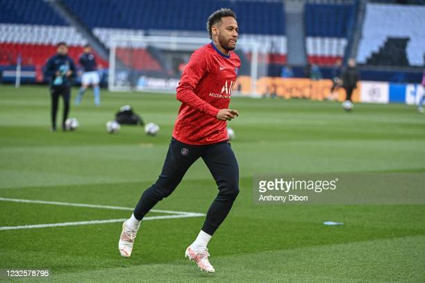 Of PSG during the UEFA Champions League, semi-finals match between Paris Saint Germain and Manchester City at Parc des Princes on April 28, 2021 in...
