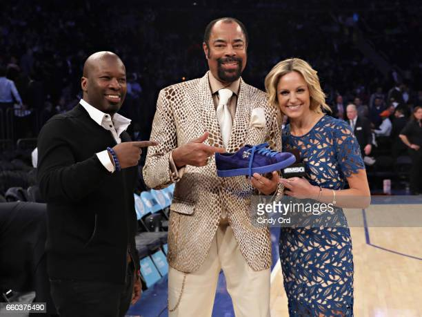 Of PUMA North America Sales, Curtis Charles and Clyde Frazier are interviewed by Rebecca Haarlow as PUMA celebrates Clyde Frazier's birthday with a...