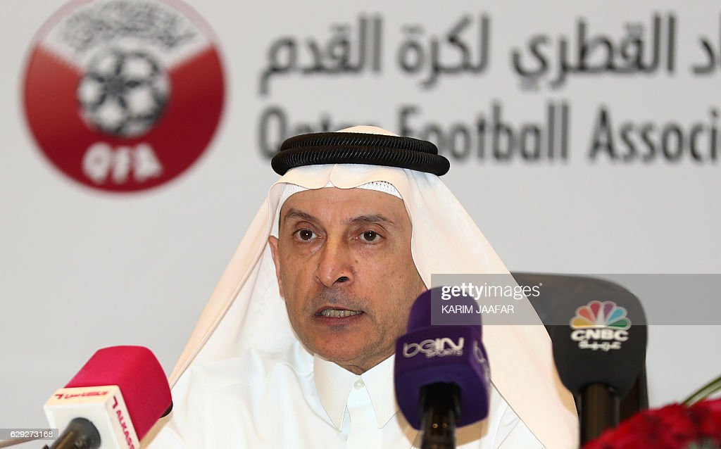 FBL-FRIENDLY-BARCELONA-AHLI-PRESSER : News Photo