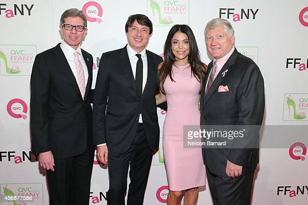 CEO of QVC Mike George designer Gianvito Rossi TV personality Bethenny Frankel and President CEO of FFANY Ron Fromm attend QVC presents 'FFANY Shoes...