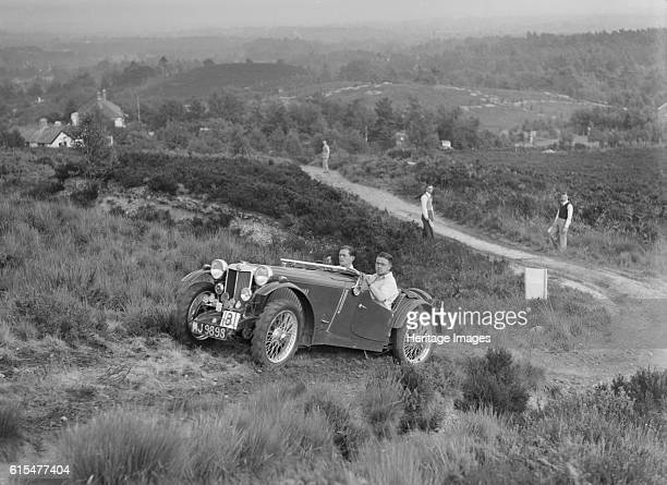 PB of R Green taking part in the NWLMC Lawrence Cup Trial 1937 MG PB 1936 939 cc Vehicle Reg No MJ9898 Event Entry No 8 Driver Green R Chassis No...