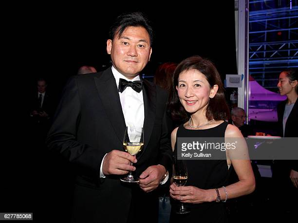 Of Rakuten.com Hiroshi Mikitani and guest attend the 2017 Breakthrough Prize at NASA Ames Research Center on December 4, 2016 in Mountain View,...