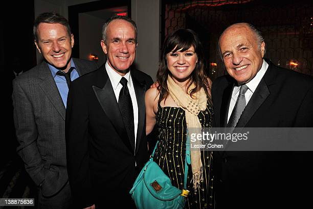 CEO of RCA Music Group Peter Edge President COO of RCA Music Group Tom Corson singer Kelly Clarkson and CEO of Sony Music Entertainment Doug Morris...