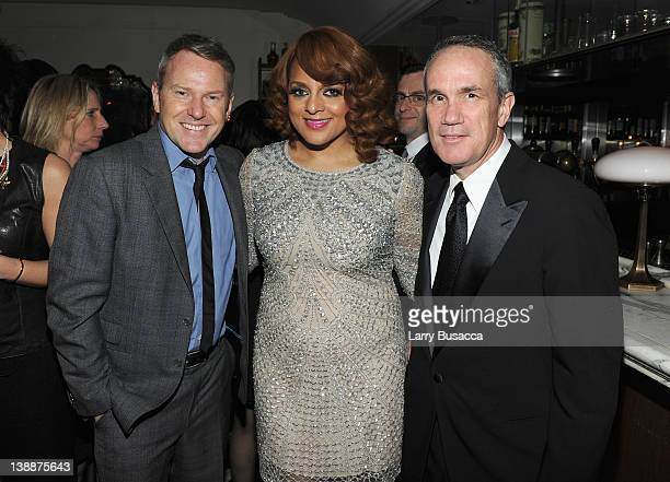 Of RCA Music Group Peter Edge, singer Marsha Ambrosius and President & COO of RCA Music Group Tom Corson attend the Sony Music Group GRAMMY Reception...