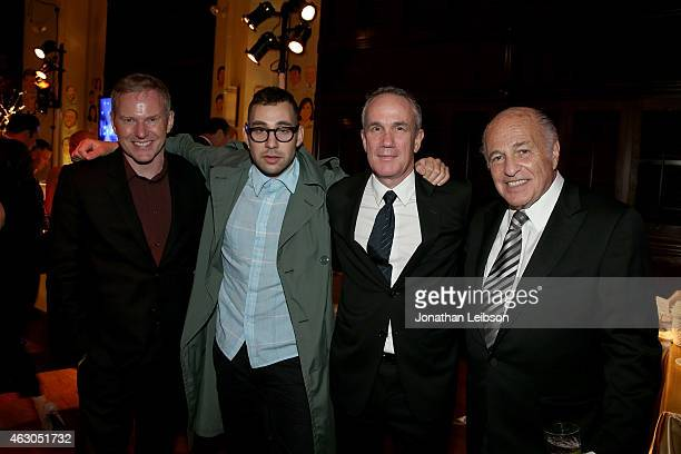 CEO of RCA Records Peter Edge recording artist Jack Antonoff of Bleachers President and COO of RCA Records Tom Corson and Chairman and CEO of Sony...