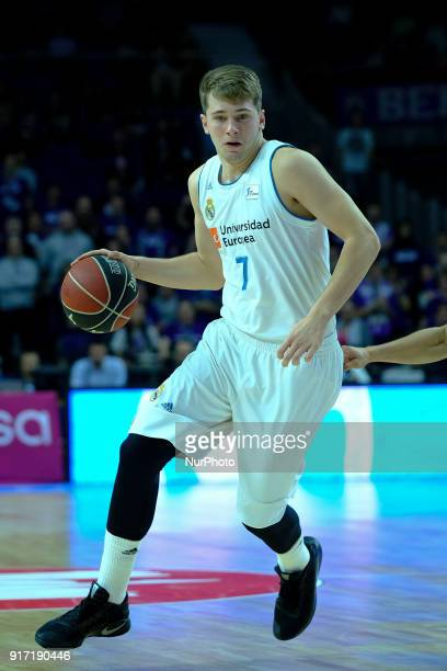 DONCIC of Real Madrid in action during the basketball macth of the Liga Endesa between Real Madrid and Iberostar Tenerife held at Wizink Center in...