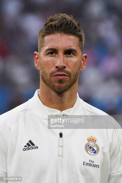 Of Real Madrid in action during the Trofeo Santiago Bernabeu match between Real Madrid and AC Milan at Estadio Santiago Bernabeu on August 11, 2018...