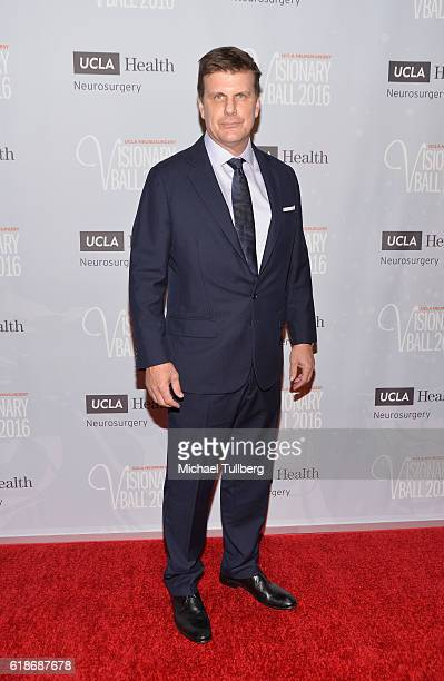CEO of RealD and Visionary Award honoree Michael V Lewis attends the UCLA Department of Neurosurgery Visionary Ball 2016 at the Beverly Wilshire Four...