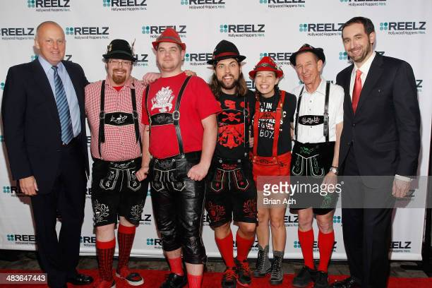 CEO of Reelz Stan E Hubbard musicians Mike Franklin Paul Coates Jake Kouwe Emily Burke and Pops Magooch of The Chardon Polka Band and Senior Vice...