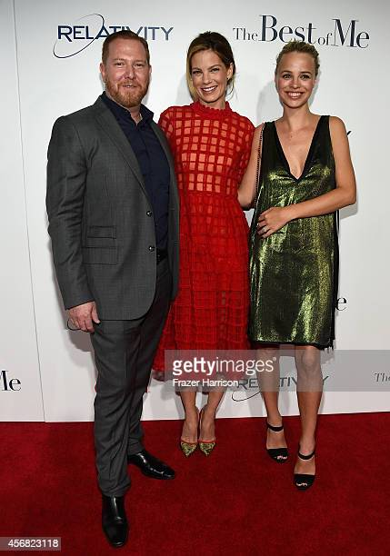 CEO of Relativity Media Ryan Kavanaugh actress Michelle Monaghan and Model Jessica Roffey attend the premiere of Relativity Studios' The Best Of Me...