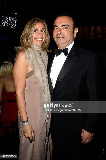 CEO of Renault and Nissan Carlos Ghosn and his wife Carole Ghosn attend amfAR's 22nd Cinema Against AIDS Gala Presented By Bold Films And Harry...