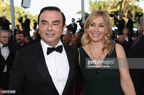 CEO of Renault Carlos Ghosn and his wife Carole attend The Last Face Premiere during the 69th annual Cannes Film Festival at the Palais des Festivals...