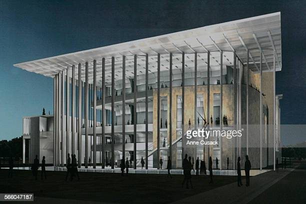 SHOTS of renderings of the state of the art Valley Performing Arts Center at Cal State Northridge in Northridge on April 15 2009 It is expected to be...