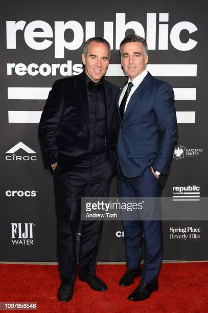 CEO of Republic Records Monte Lipman and President and Chief Operating Officer of Republic Record Avery Lipman attend Republic Records Grammy after...