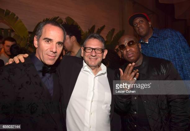 CEO of Republic Records Monte Lipman Chief Executive Officer of Universal Music Group Lucian Grainge rapper Birdman Ronald 'Slim' Williams of Cash...