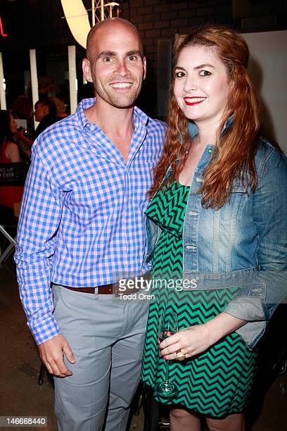 """Of Retail Noah Rosenblatt and Marie Claire Editor Abby Gardner attend the Marie Claire & MAKE UP FOR EVER DVD Release Event For """"The Artist"""" on June..."""