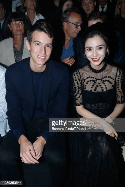 CEO of Rimowa Alexandre Arnault and Angela Baby attend the Christian Dior show as part of the Paris Fashion Week Womenswear Spring/Summer 2019 on...