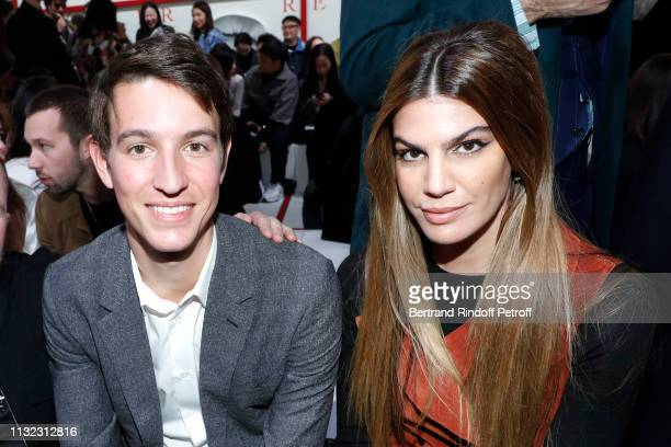 CEO of Rimowa Alexandre Arnault and Bianca Brandolini d'Adda attend the Christian Dior show as part of the Paris Fashion Week Womenswear Fall/Winter...
