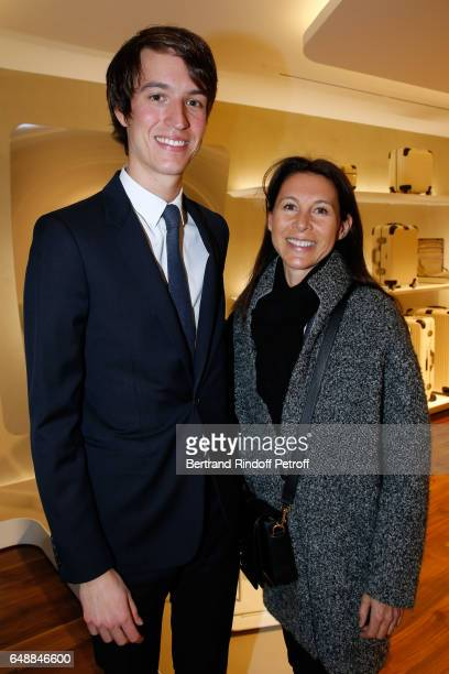 CEO of Rimowa Alexandre Arnault and Delphine Royant attend the Opening of the Boutique Rimowa 73 Rue du Faubourg Saint Honore in Paris on March 6...