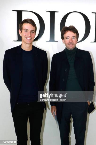 CEO of Rimowa Alexandre Arnault and his brother General manager of Berluti Antoine Arnault attend the Christian Dior show as part of the Paris...