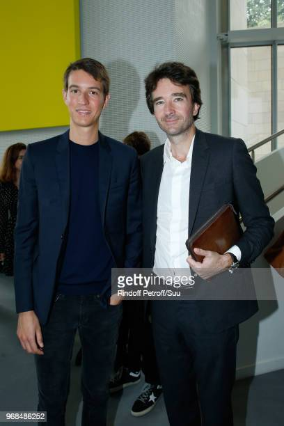 CEO of Rimowa Alexandre Arnault and his brother General manager of Berluti Antoine Arnault attend the LVMH Prize 2018 Edition at Fondation Louis...