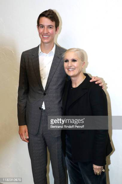 Of Rimowa, Alexandre Arnault and Stylist Maria Grazia Chiuri pose after the Christian Dior show as part of the Paris Fashion Week Womenswear...