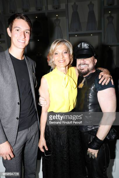 CEO of Rimowa Alexandre Arnault his mother Helene Arnault and Peter Marino attend the Christian Dior Haute Couture Fall Winter 2018/2019 show as part...