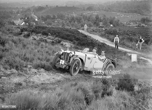 PA of RM Andrews taking part in the NWLMC Lawrence Cup Trial 1937 MG PA 2 seater sports 1935 847 cc Vehicle Reg No JB6156 Event Entry No 6 Driver...