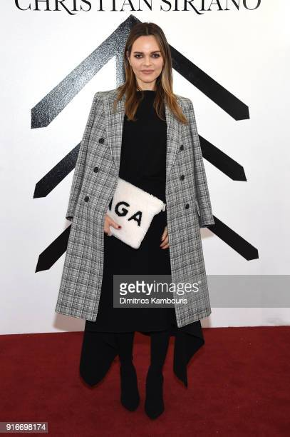 CEO of Rodial Beauty Maria Hatzistefanis attends the Christian Siriano fashion show during New York Fashion Week at Grand Lodge on February 10 2018...