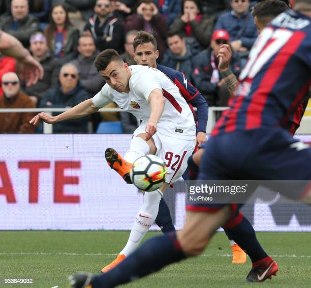 SHAARAWY of Roma during the serie A match between FC Crotone and AS Roma at Stadio Comunale Ezio Scida on March 18 2018 in Crotone Italy