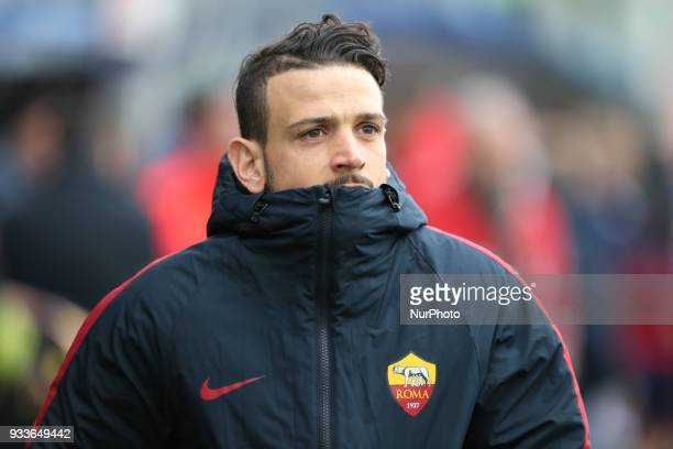 FLORENZI of Roma during the serie A match between FC Crotone and AS Roma at Stadio Comunale Ezio Scida on March 18 2018 in Crotone Italy