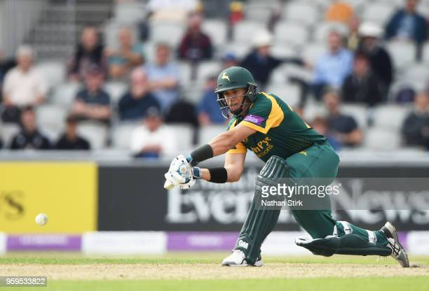 of Ross Taylor of Nottingham batting during Royal London OneDay Cup match between Lancashire and Nottinghamshire at Old Trafford on May 17 2018 in...