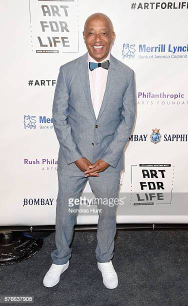 CEO of Rush Communications Russell Simmons attends Rush Philanthropic Arts Foundation's 2016 ART FOR LIFE Benefit at Fairview Farms on July 16 2016...