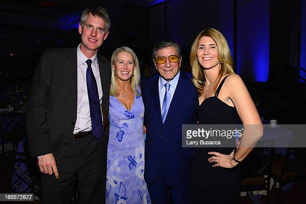 Of Safe Water Network Kurt Soderlund, Vice President of Newman's Own Clea Newman Soderlund, Tony Bennett and Susan Benedetto attend SeriousFun...