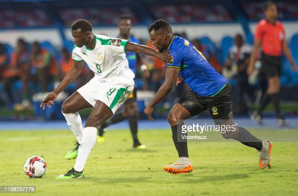 Of Senegal and of Tanzania during the 2019 Africa Cup of Nations Group C match between Senegal and Tanzania at 30th June Stadium on June 23, 2019 in...