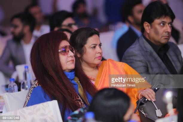 CEO of Shahnaz Herbals Inc Shahnaz Husain and BJP MP Meenakshi Lekhi during the Hindustan Times Game Changer Awards 2017 at Hotel Oberoi on May 24...