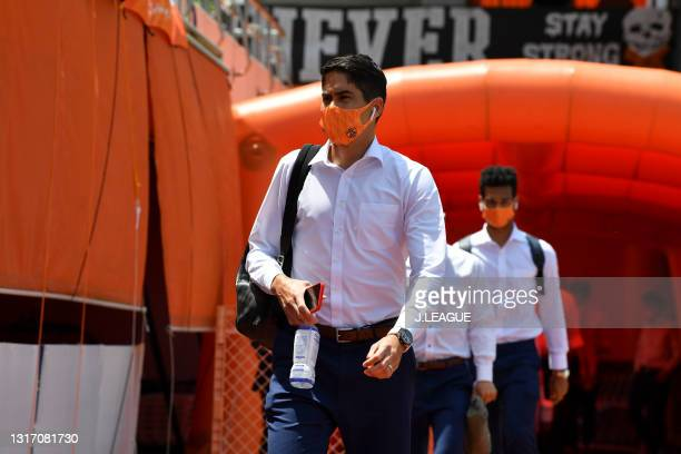 Of Shimizu S-Pulse is seen on arrival at the stadium prior to the J.League Meiji Yasuda J1 match between Shimizu S-Pulse and Yokohama FC at the IAI...