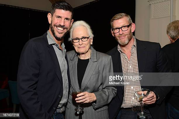 CEO of Shine Rich Ross former AFI CEO Jean Firstenberg and SVP of franchise management Adam Sanderson attend the after party for Target Presents...